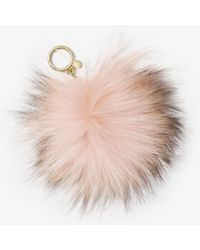 Michael Kors Fur Key Chain - Pink