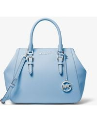 Michael Kors Mk Charlotte Large Satchel - Blue