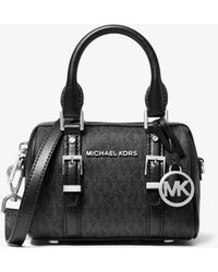 Michael Kors Bedford Legacy Extra-small Logo Duffle Crossbody Bag - Black