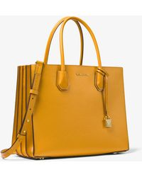 Michael Kors - Mercer Large Pebbled Leather Accordion Tote - Lyst