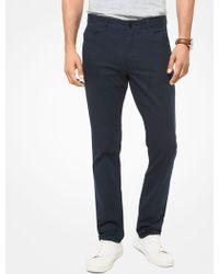 Michael Kors Mk Parker Slim-fit Stretch-twill Pants - Blue