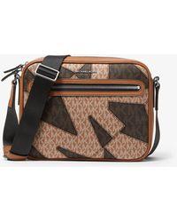 Michael Kors Hudson Two-tone Graphic Logo Camera Bag - Brown