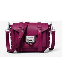 Michael Kors - Manhattan Small Leather Crossbody Bag - Lyst