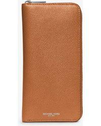 Michael Kors - Harrison Leather Zip-around Wallet - Lyst