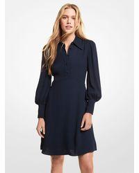 Michael Kors Crepe Dress - Blue