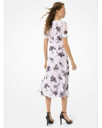 Michael Kors Floral Georgette Button-front Dress - Multicolour