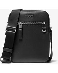 Michael Kors Henry Leather Flight Bag - Black