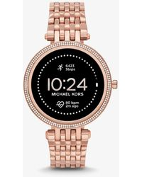 Michael Kors Gen 5e Darci Pavé Rose Gold-tone Smartwatch - Multicolour