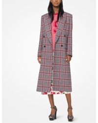 Michael Kors - Plaid Wool Chesterfield Coat - Lyst