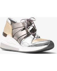 Michael Kors - Beckett Metallic Sneaker - Lyst