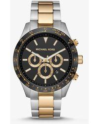 Michael Kors Oversized Layton Silver-Tone Watch - Multicolore