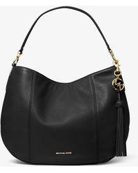 Michael Kors Brooke Large Pebbled Leather Shoulder Bag - Noir