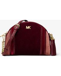 Michael Kors Mk Md Half Moon Xbody - Red