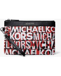 Michael Kors Graphic Logo Travel Pouch - Red