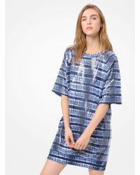 73f4785f73d Michael Kors - Sequined Tie-dye T-shirt Dress - Lyst