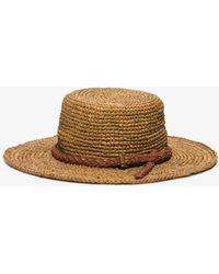 Michael Kors - Santorini Raffia Straw Hat - Lyst