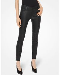 Michael Kors - Selma Leather Skinny Pants - Lyst
