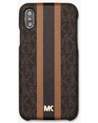 Michael Kors Logo Stripe Phone Cover For Iphone X/xs - Multicolour
