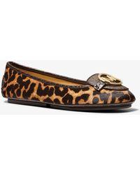 Michael Kors Lillie Leopard Print Calf Hair Moccasin - Multicolour