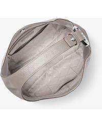 Michael Kors Fulton Large Pebbled Leather Shoulder Bag - Grey