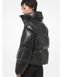 Michael Kors Quilted Faux Leather Puffer Jacket - Multicolour