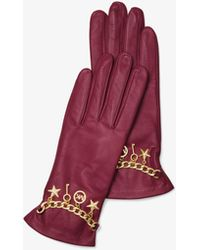 Michael Kors - Studded Leather Gloves - Lyst