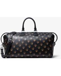 Michael Kors Kennedy Studio 54 Calf Leather Duffle Bag - Black
