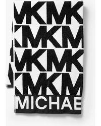 Michael Kors Handtuch aus Baumwolle mit Logo - Schwarz