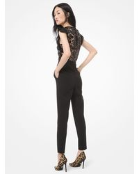 Michael Kors Sequined Lace - Bodice Jumpsuit - Black