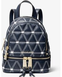 39722da65751 Michael Kors - Rhea Mini Quilted Leather Backpack - Lyst