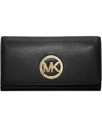Michael Kors - Fulton Leather Carryall Wallet - Lyst