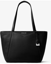 Michael Kors Whitney Large Leather Tote Bag - Black