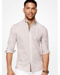 Michael Kors - Slim-fit Stretch-cotton Shirt - Lyst