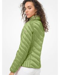 Michael Kors Quilted Nylon Packable Puffer Jacket - Green
