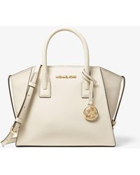 Michael Kors Avril Small Leather Top-zip Satchel - Natural