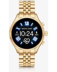Michael Kors Gen 5 Lexington Gold-tone Smartwatch - Metallic