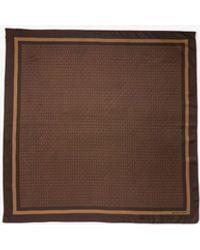 Michael Kors Mk Logo Print Silk Twill Scarf - Brown