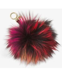 Michael Kors Fox Fur Key Chain - Multicolor