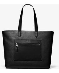 Michael Kors Hudson Pebbled Leather Tote Bag - Black