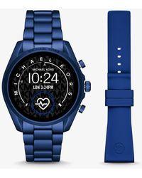 Michael Kors Gen 5 Bradshaw Blue-tone Aluminum Smartwatch