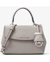 Michael Kors Ava Extra-Small Saffiano Leather Crossbody Bag - Gris