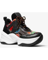 Michael Kors Olympia Party Bead Sneaker - Black