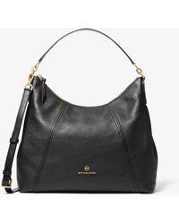 Michael Kors Grand sac porté épaule Sienna en cuir grainé - Noir