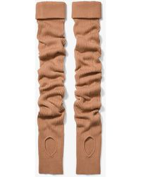 Michael Kors Cashmere Arm Warmers - Black