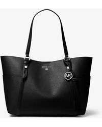 Michael Kors Nomad Small Saffiano Leather Top-zip Tote Bag - Black