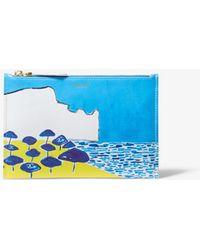 2a7eb5aca170 Michael Kors - Bancroft Printed Calf Leather Christina Zimpel Pouch - Lyst