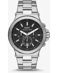 Michael Kors Oversized Dylan Silver-Tone Watch - Métallisé