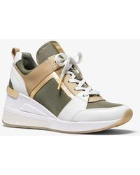 Michael Kors - Georgie Canvas And Leather Trainer - Lyst