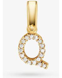 Michael Kors 14k Gold-plated Sterling Silver Pavé Alphabet Charm - Metallic