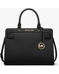 Michael Kors Rayne Medium Saffiano Leather Satchel - Black